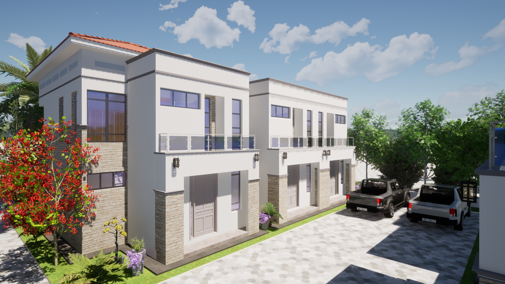 PROPOSED 6 TWO BEDROOM MAISONETTE